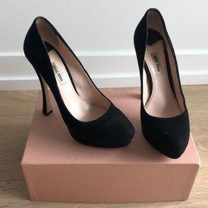 Miu Miu Calzature Donna Camoscio black heels 39